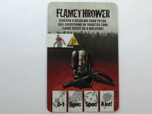 survivor equipment card (flame thrower)